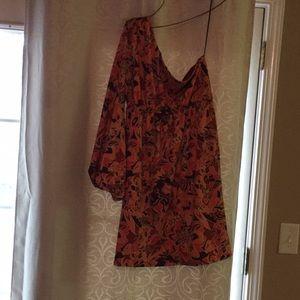 ☄️RETRO☄️ one shoulder mini dress [women's large]